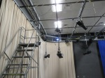 another view of the studio with more of the pipes where lights hang
