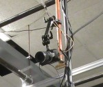 another view of the studio ceiling and a small BlackMagic camera